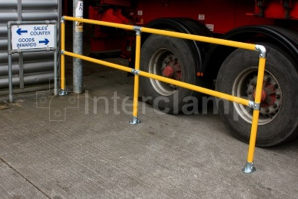 Interclamp safety post - modular ball standard replacement handrail system