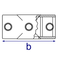 Dimensions Image 2 - 119 - Two Socket Cross