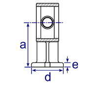 Dimensions Image 1 - 143 - Handrail wall bracket