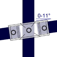 Dimensions Image 1 - 156 - Slope Cross (0° - 11°)