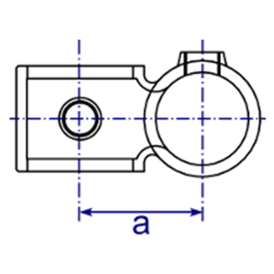 Dimensions Image 1 - 161R - Reducing Offset Crossover